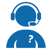 An icon of a person with a headset on
