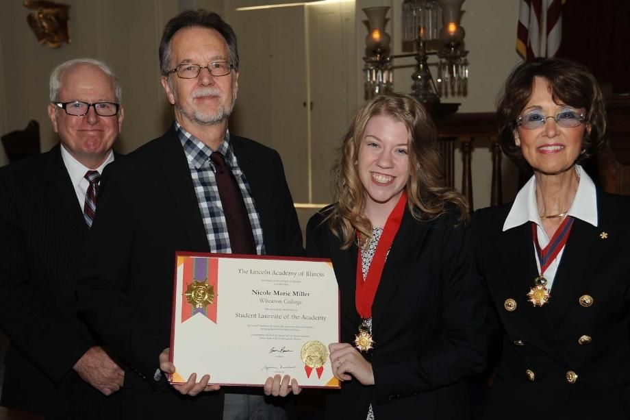 Wheaton College Student Nicole Miller - Student Laureate of the Lincoln Academy of Illinois