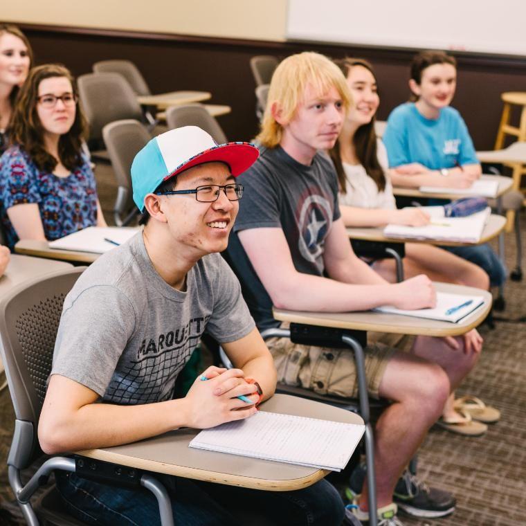 Students in English Class Wheaton College IL
