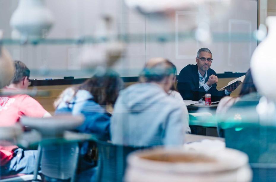 Adam Miglio Teaching in Classroom at Wheaton College IL