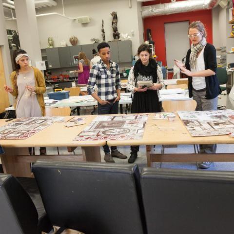 Dr. Samuelson teaching an art class at Wheaton College