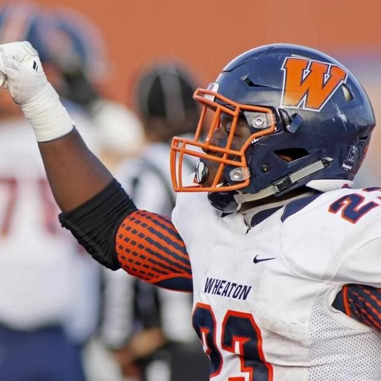 Wheaton College Thunder Football Player