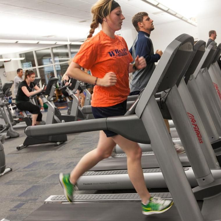 Student on Treadmill at Chrouser Sports Complex