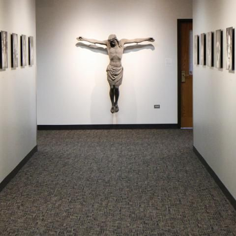 View of the crucifix