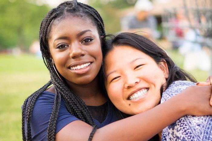 students smiling together at BRIDGE