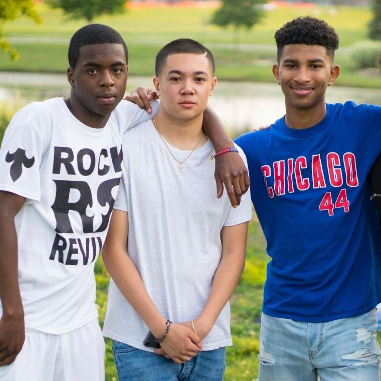 Three Male BRIDGE students Wheaton College 2017