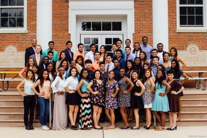 BRIDGE students standing for a group photo