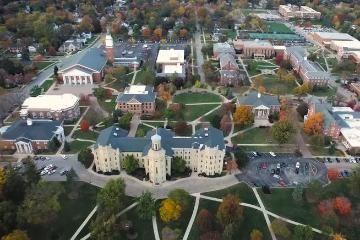 Aerial View of Wheaton College IL Campus