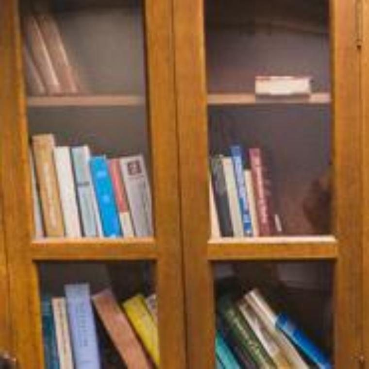 Bookshelf in reading room