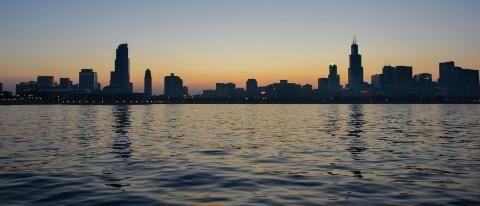 Chicago Skyline during dusk