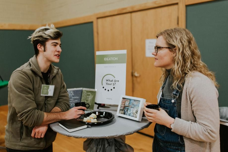 Wheaton College Students at What Are Your 5 Event