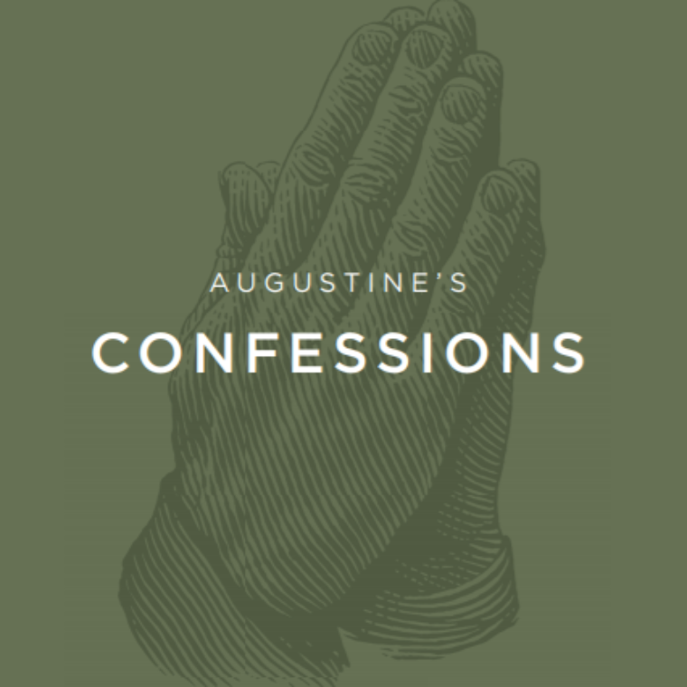 Cover of Dr. Leland Ryken's Confessions reading guide shows hands in prayer