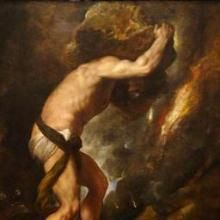 Sisyphus by Titian, Public domain, circa 1548