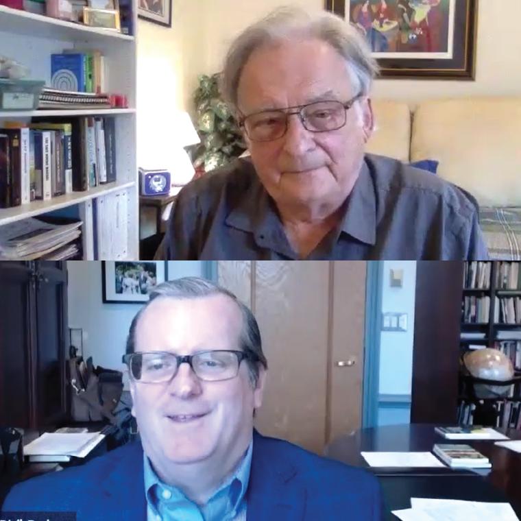 Dr. Arthur J. Ammann and Dr. Philip Ryken discussing Albert Camus' The Plague