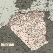 Map of Algeria, circa 1945, Library of Congress, Geography and Map Division