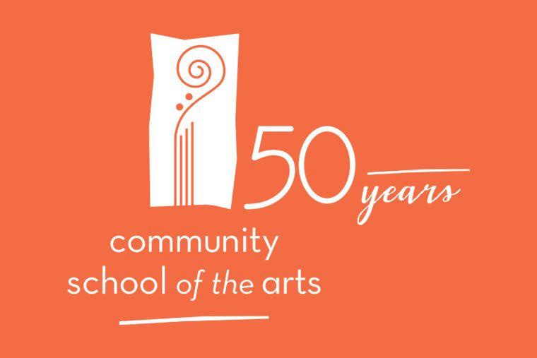 Community School of the Arts 50th anniv logo