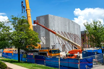 Armerding Center for Music and the Arts Timelapse of Construction