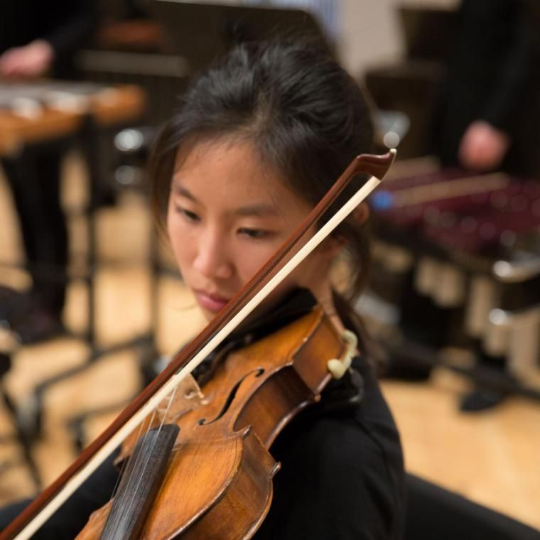 Wheaton Conservatory Student Playing Violin