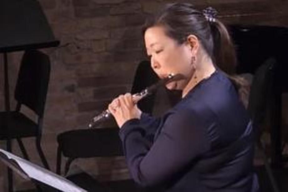 Jennie Brown playing Flute Wheaton College Conservatory of Music