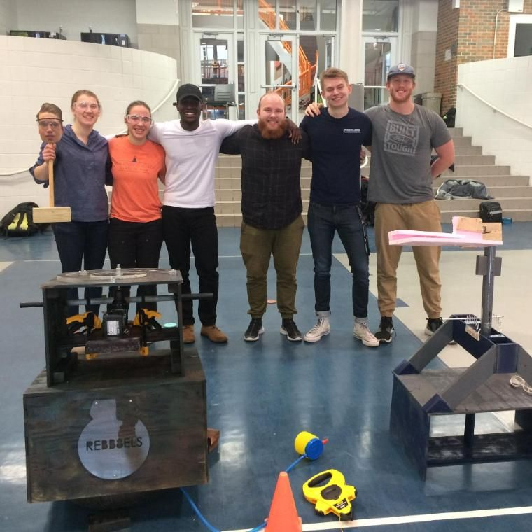 Wheaton College IL Engineering Students with Projects