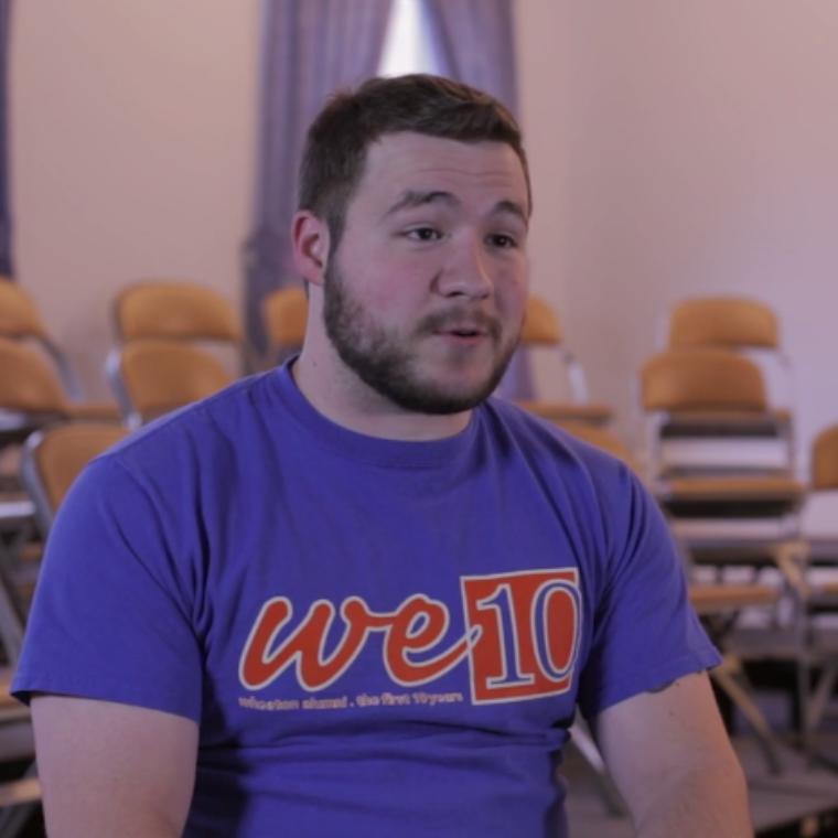 Kyle McCordick sharing his financial aid testimony