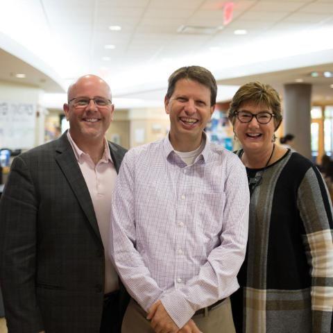 Steve Ivester, David Setran and Laura Barwegan