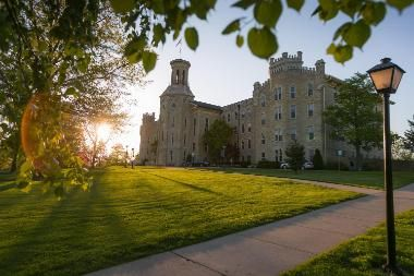 picture of campus as the sun sets