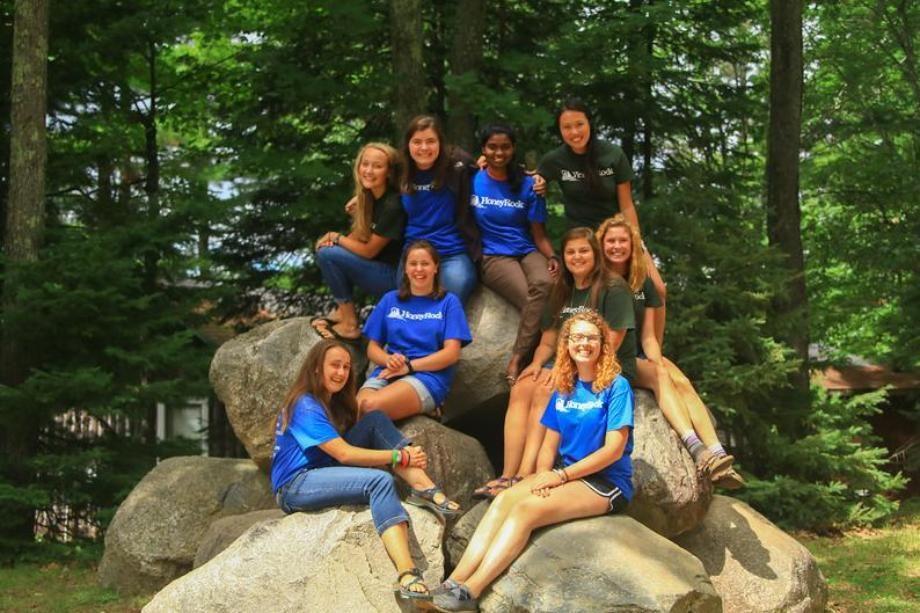 honeyrock staff on the rocks at honeyrock