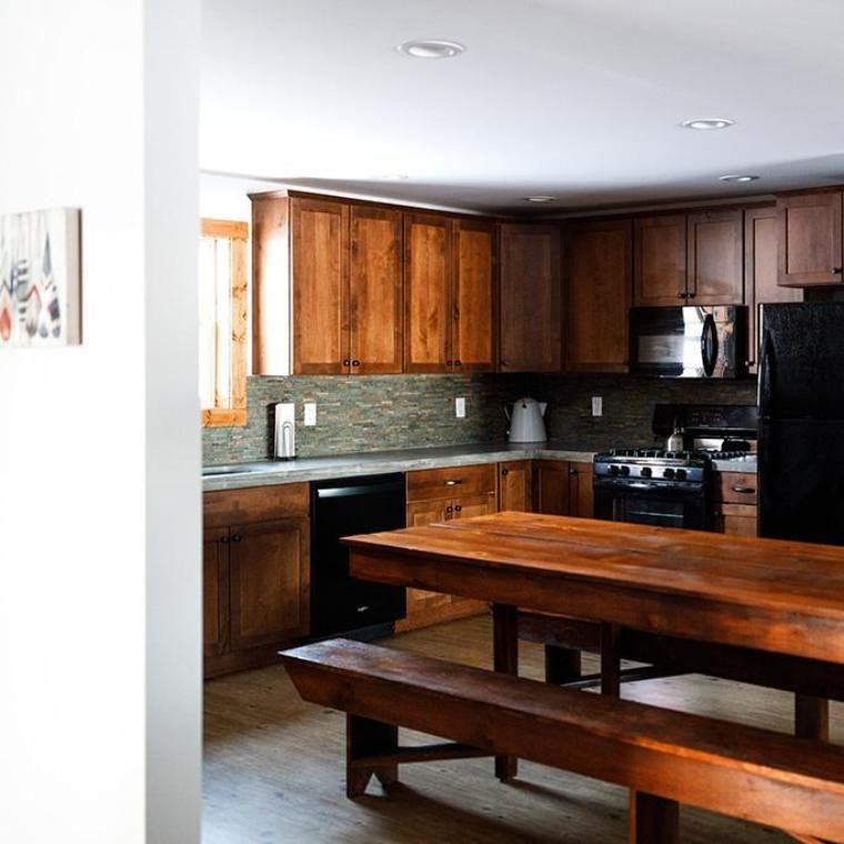 kitchen of wellspring cabin