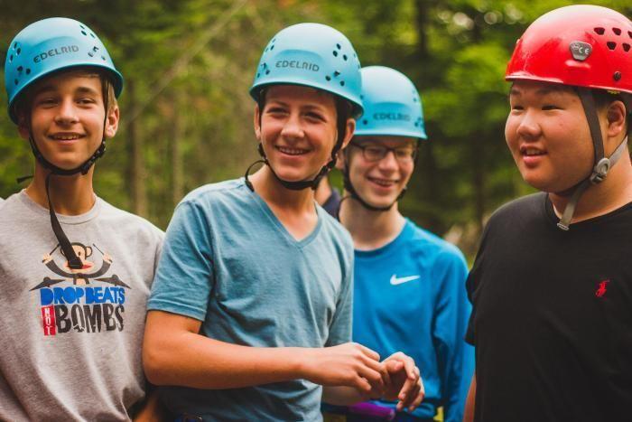 camper boys smiling at honeyrock
