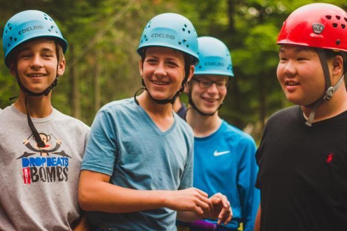 camper boys at honeyrock