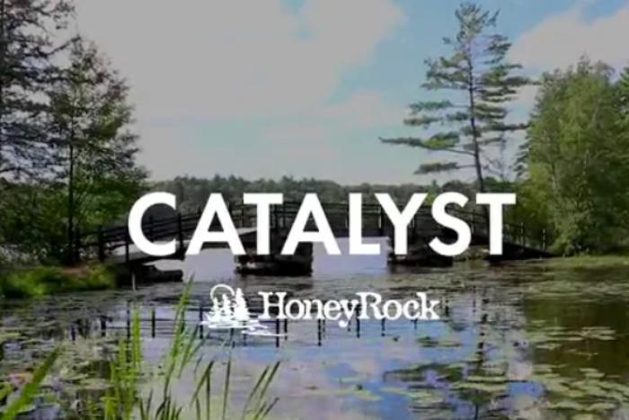 catalyst text over honeyrock bridge photo