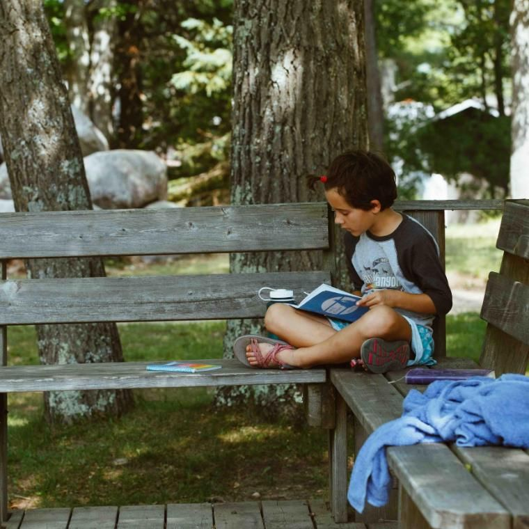 Morning Watch is a quiet time for each camper to journal, pray, read their Bible, or a mix of those things. If campers have trouble not quite knowing how to spend this time, their cabin leaders are there to help!