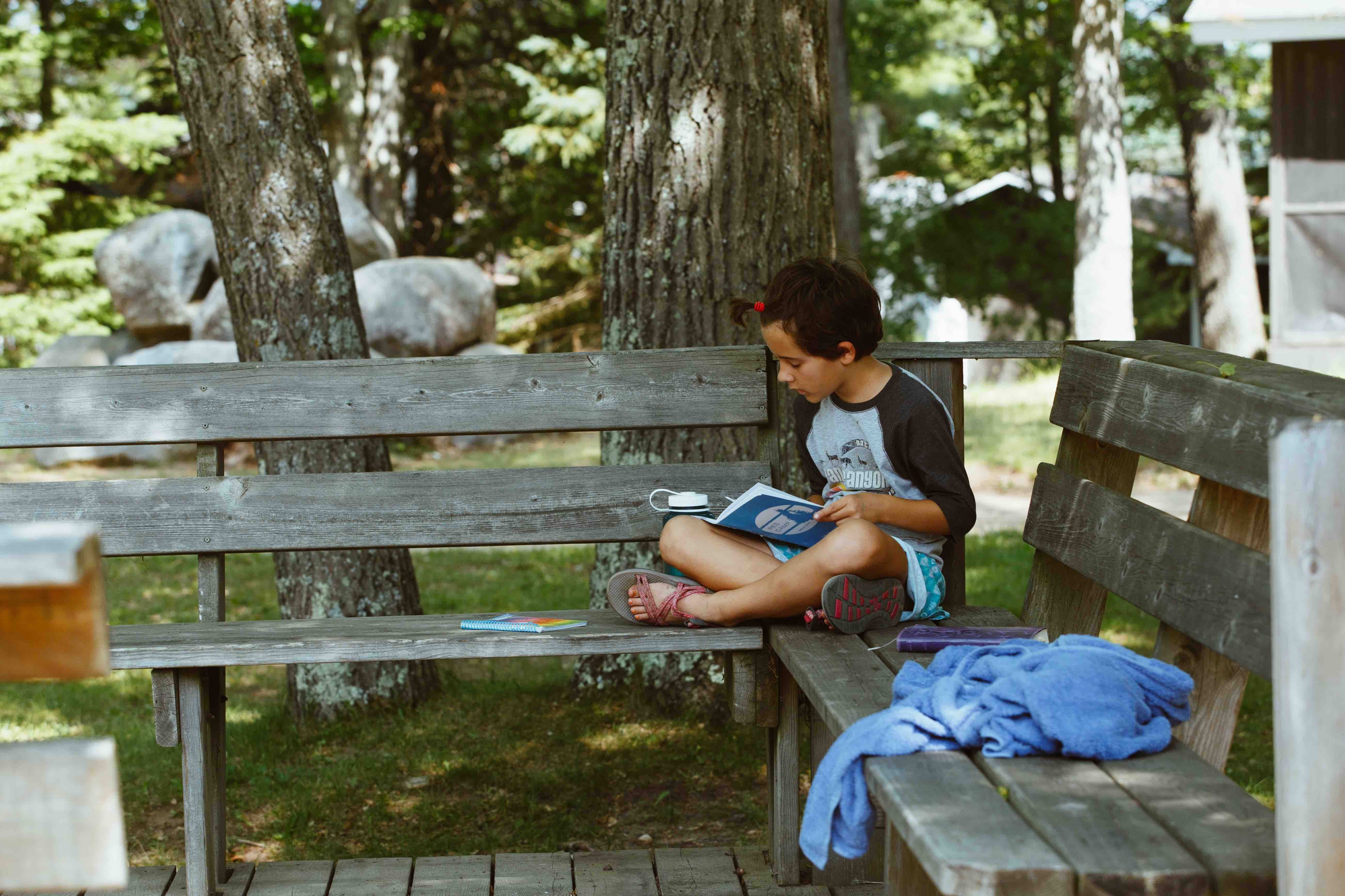 Campers are given guides to help them reflect on their experience at HoneyRock with journaling prompts and key scriptures. Morning Watch is a great time to use them!