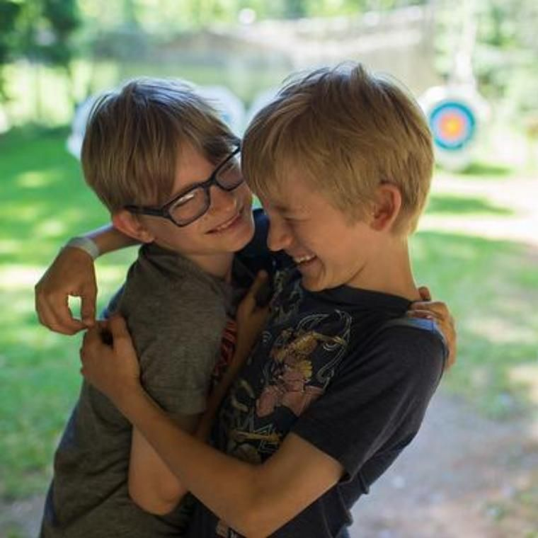 It's time to hug your friends goodbye! At about 3:00 we end the day at HoneyRock for Day Campers.