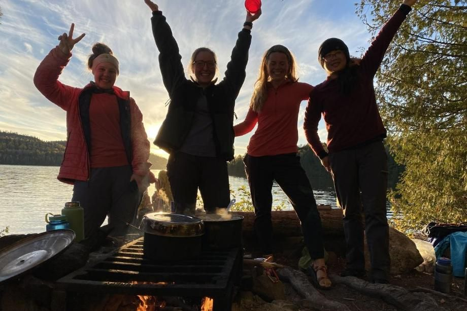 Kirstin Crawford and friends on wilderness trip