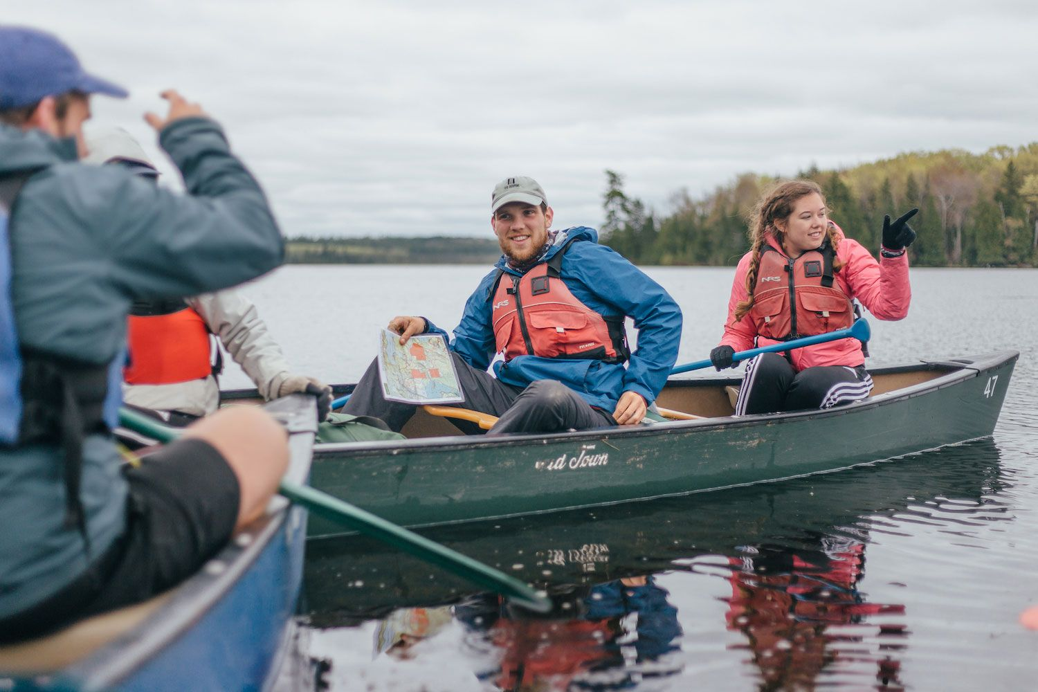 Our youngest campers, up to 8th grade, stay onsite for their wilderness trips, called camp outs. They canoe or backpack to their HoneyRock-owned campsites.