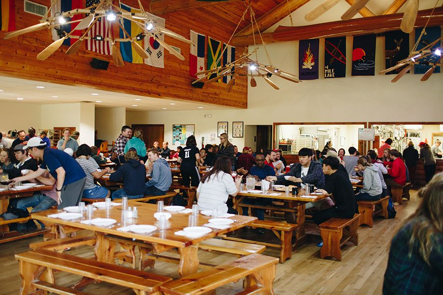 When the Dining Hall fills up, it can get pretty loud! We love hearing campers sharing about their day around the table.