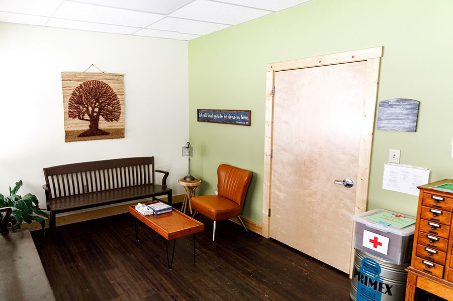 This is the waiting room of the Health Center.