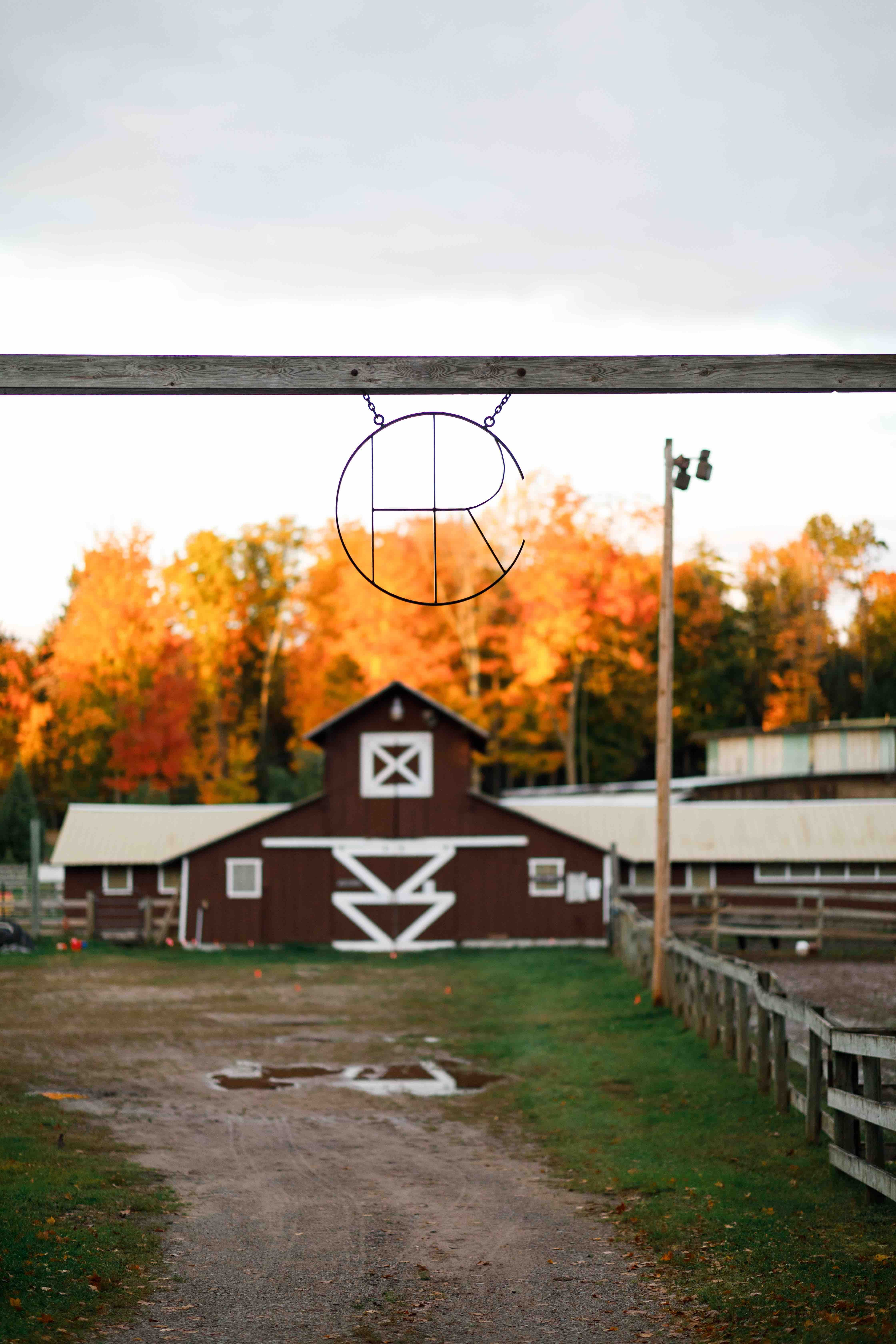 This is our front barn in fall at HoneyRock.