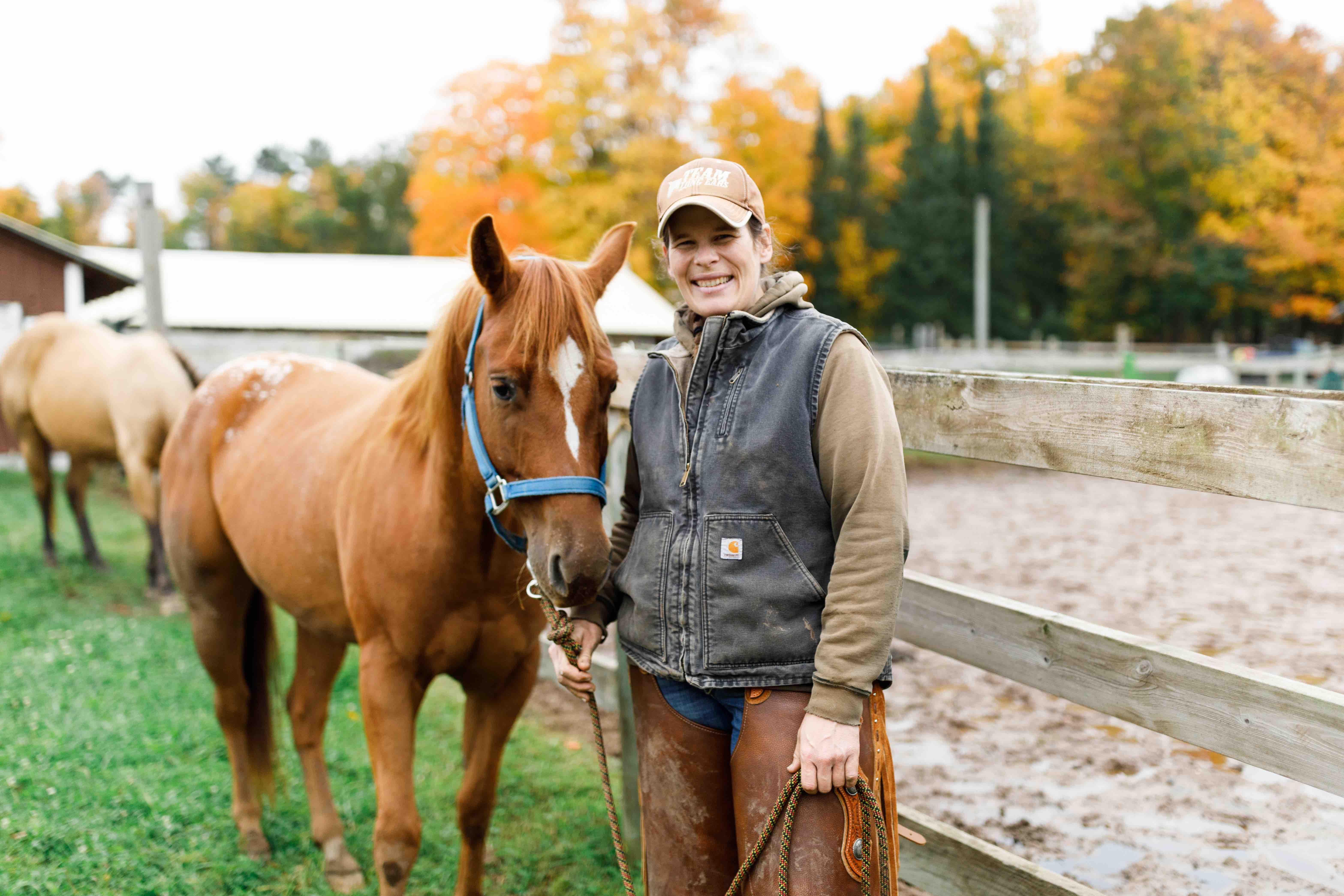 Erin Sharp directs all of our horsemanship experiences from summer camp to graduate student training.