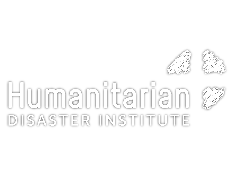 Humanitarian Disaster Institute Logo White with Shadow