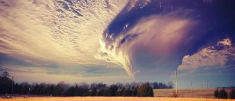 Massive Tornado in a Wheat Field