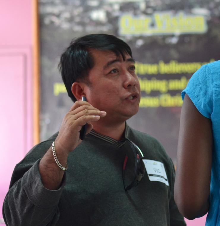 Man speaking in the Philippines