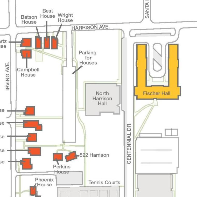Campus Residence Map