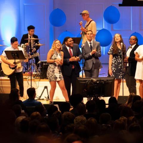 Wheaton College Orientation Opening Worship Band at Edman Chapel
