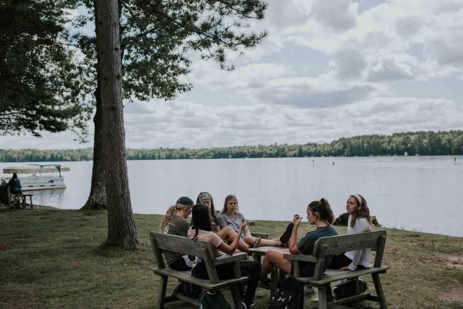 Small Group of Students Talking at HoneyRock