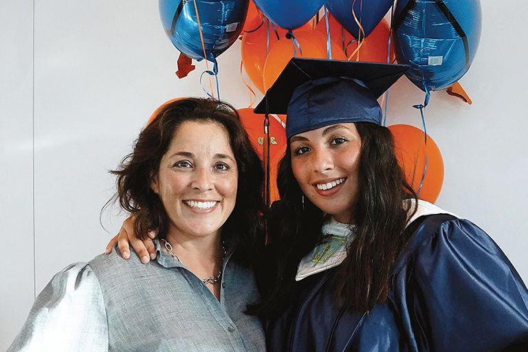 Isabella Valdes with her mother Sujey Valdes '98.