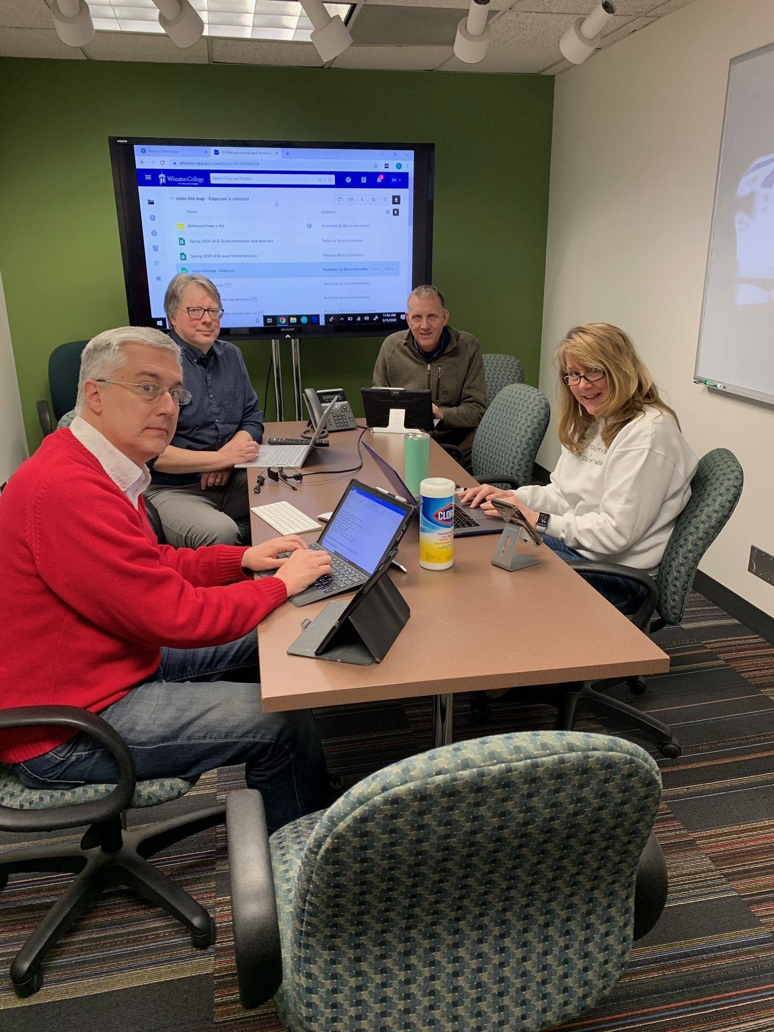 Academic and Institutional Technology prepping to support faculty as they move to online learning.