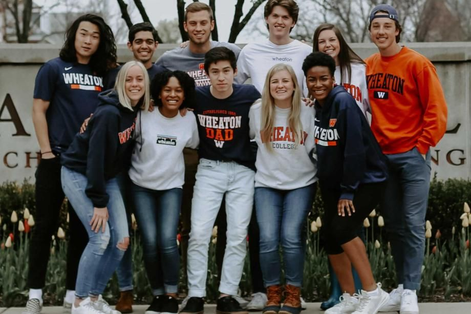 Wheaton Students in Wheaton Spirit Wear